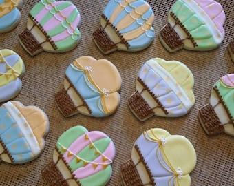 Hot Air Balloon Travel Cookies - One Dozen