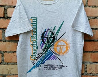Rare!!! Vintage Sergio Tacchini T Shirt Large Size