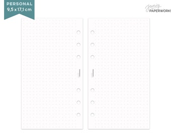 Notepaper Filofax - Dot Grid - 25 Sheets - Personal, A5, Pocket