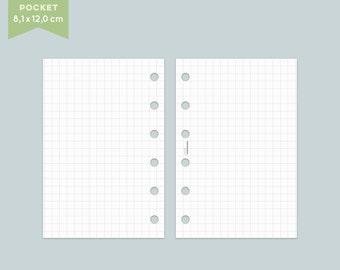 Notepaper Filofax - checkered - 25 Sheets - Pocket