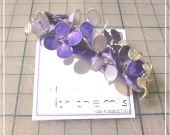 Purple Wire Flower Hairclip