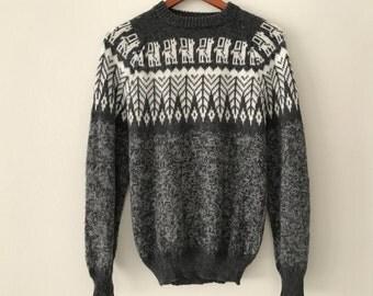 Vintage Wool Alpaca Sweater -  Ethnic Sweater
