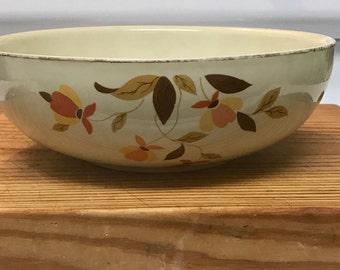 """Halls Superior Jewel Tea Autumn Leaf 9"""" Salad Bowl"""