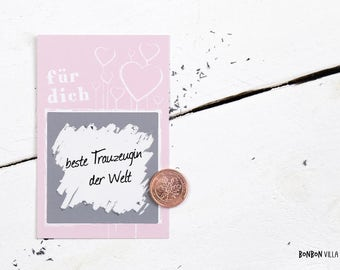 25 pieces/scratch card scratch card for you * - pink