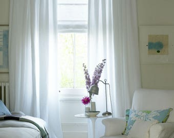 custom made soft white cotton rich curtain panel extra wide extra long all