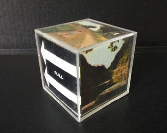 Retro Picture Cube for Kodak Instamatic and Polaroid Pictures, Lucite Acrylic Photo  Cube for Vintage Photo Snapshots