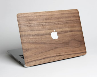 Macbook Wood Case for Apple Mac Air Pro 11 12 13 15 inch - Walnut Wood Mac book Case - Mac Skin - Mac Sticker - Mac Cover - Mac Case