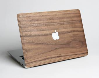 Macbook Wood Case for Apple Mac Air Pro 11 12 13 15 inch - Walnut Wood Mac book Case - Mac Skin - Mac Sticker - Mac Cover - Mac Case