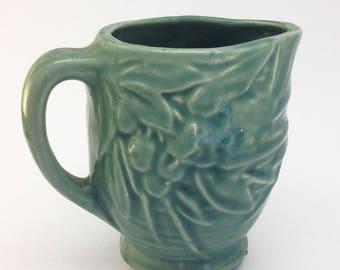 Vintage McCoy Green Ceramic Pitcher
