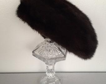Vintage 1960s Mink Hat