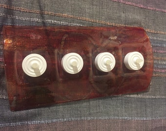 4 tea light arched holder made from recycled glass
