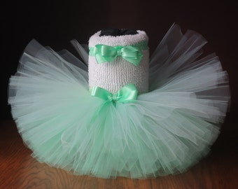 Infant Baby Toddler Mint Green Wedding Birthday Tutu With Matching Headband/Hair Clip~ Size: 12-24 Month Ready to GO!!