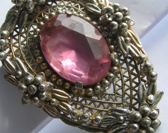 Large Antique Pin Brooch - Victorian Jewelry