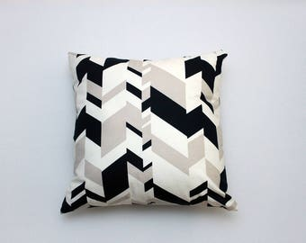 Throw Pillow featuring Blue & White Oversized Houndstooth