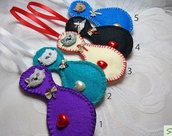 Christmas Tree Decor Felt Sheep ornament Keychain Lamb