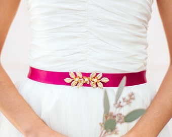 Bridal belt Leavy - belt marriage - belt of bride color - Bohemian married belt - belt boho-Bridesmaids Gift