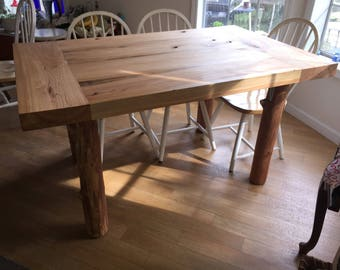 Extra Thick Solid Cypress breadboard end dining room table