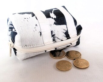 wallet striped blue and white gift woman, wife, girlfriend, fabric gift wallet recycled, original gift wallet fantasy.