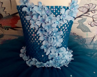 Princess royal blue flower tutu