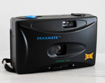 Panamate Panoramic Camera - functional vintage 35 mm film analog for lomography with wide prime lens, point and shoot + handstrap