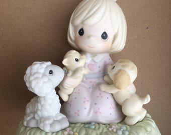 """Precious moments """"precious friends""""porcelain figurine"""