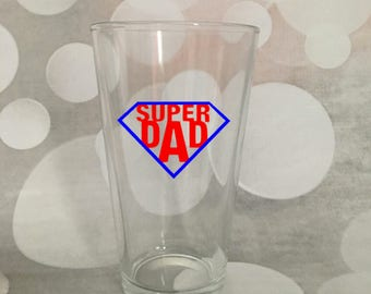 Super Dad Glass; Father's Day Gift