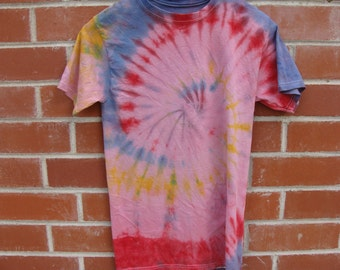 Red, Yellow, Blue & Pink Tie Dye shirt