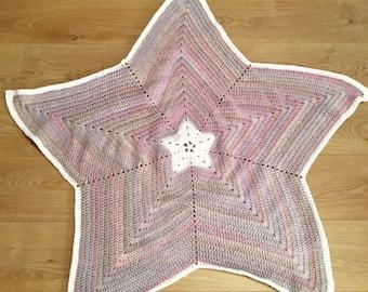 Handmade Crochet Star Blanket