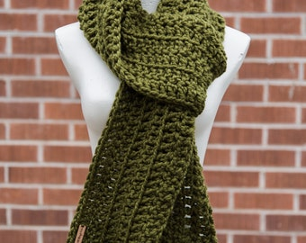 Classic Crochet Scarf / THE BARBARA / Extra Long Open Ended Scarf
