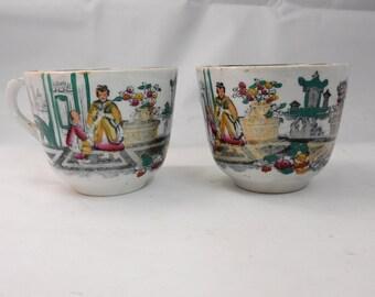 pair of Japanese tea cups (2)