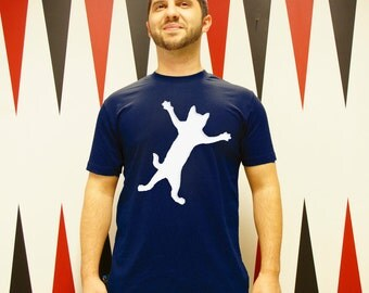 "Men T-Shirt ""Clamp cat"" fair trade organic"
