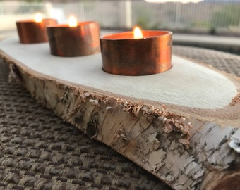 COPPER & BIRCH unique candleholder free shipping table decor rustic industrial housewarming wedding father's mother's day birthday dining