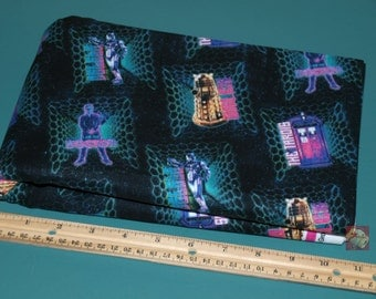 2 Yards Doctor Who Icons Cotton Fabric NEW