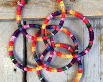 5 multicolored ethnic rushes