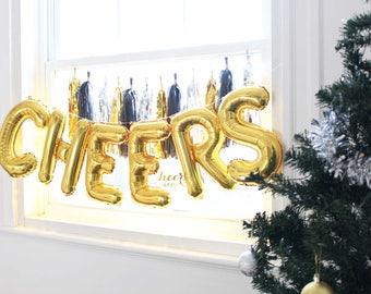 "16"" CHEERS set - gold foil balloon - birthday decor- party decor - balloon garland - kids party decor - cheersnco"