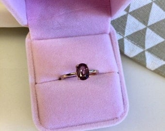 Red spinel ring (S925)