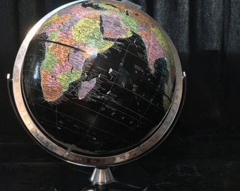 Encyclopedia Britannica Black 12 Inch Globe by Replogle
