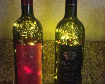 Lighted Stella Rosa Bottle