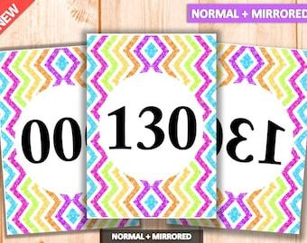 Facebook Live Sales, Mirrored + Normal Number Tag, 000-999, Reversed + Normal Numbers tags, Marketing, Printables, llr number tags
