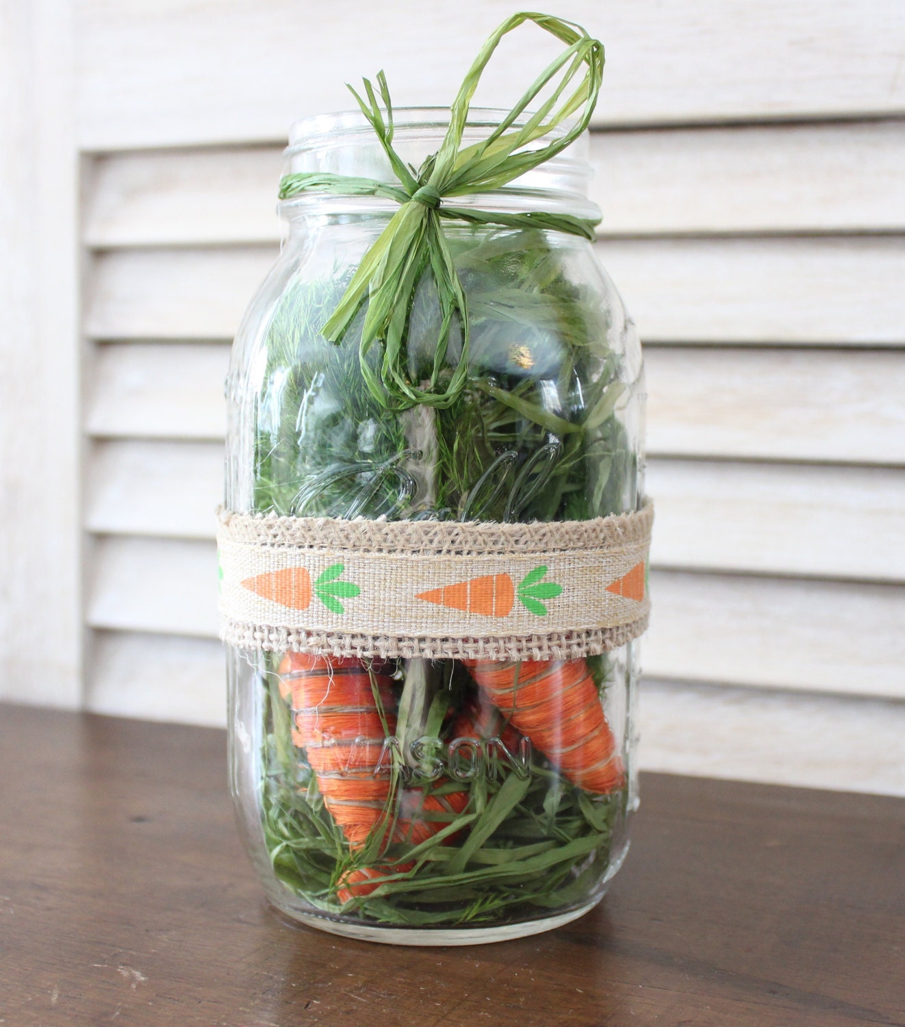 Easter Mason Jar Centerpiece Carrots, unique rustic carrot centerpiece, easter table decor, rustic easter table decorations mason jar