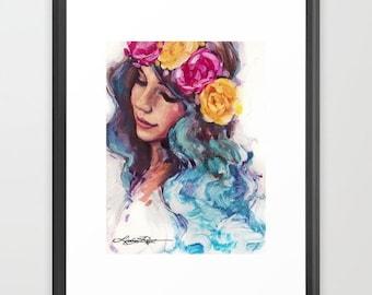 Feeling Blue - Framed Paper Print