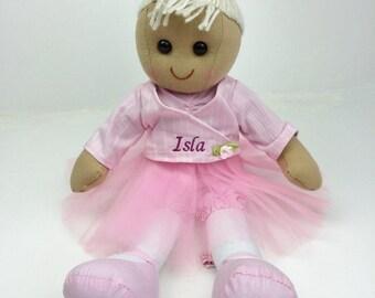 Beautiful Personalised 40cm Ballerina Rag Doll