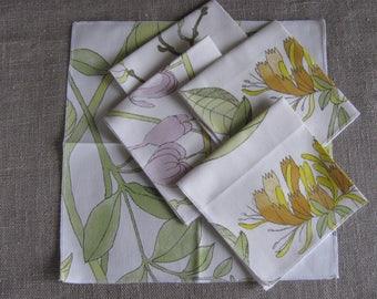 Floral Cloth Napkin Eco Friendly Napkins Set of 6 Spring Flower Napkins