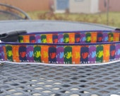 Classic Beatles inspired dog collar