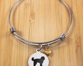 Doodle Bracelet | Stainless Steel Adjustable Bangle Bracelets | Dog Jewelry | Dog Bracelets | Doodle Jewelry