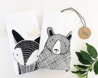 Woodland Animals blanket-CuddleBlanket-securityblanket-minkyblanket-soft-dummystrap-toystrap-strollerblanket-carseatblanket-babyshower-babyg