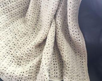 Crochet afghan throw blanket