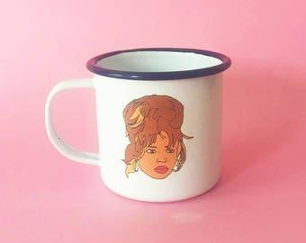 Beyonce Enamel Dishwasher Illustrated 8cm Mug
