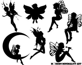 Fairy Clipart Black – 7 PNG Images