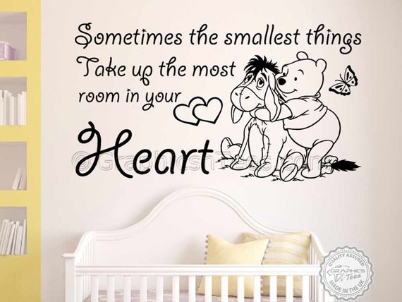 winnie the pooh amp eeyore wall sticker quote sometimes eeyore winnie the pooh sticker wall decal or iron on